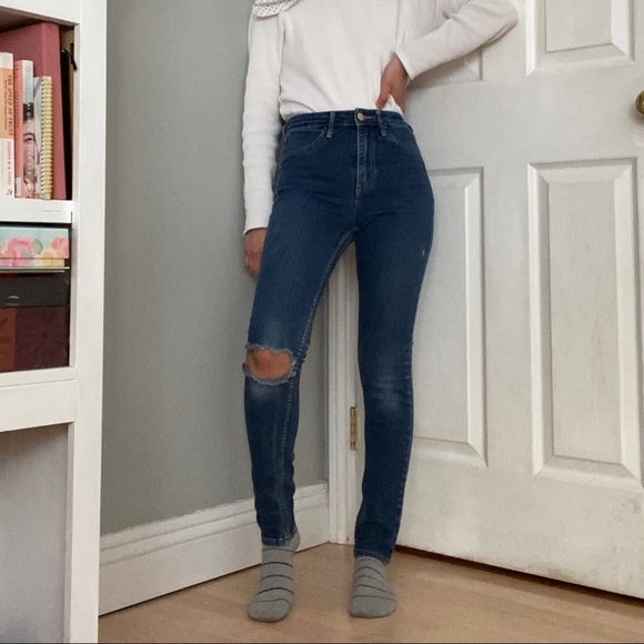 Skinny ankle blue jeans